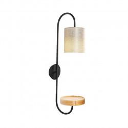 Lampa de perete Opviq Servis, 28x73 cm, E27, 100 W, negru/crem