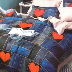 Lenjerie de Pat Finet Satinat, 6 Piese, Love Jeans, FNM-92