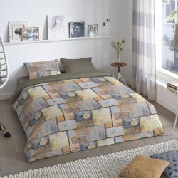 Lenjerie de pat pentru doua persoane, Good Morning, Martin, 100% bumbac, 3 piese, multicolor