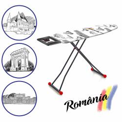Masa de calcat Romania, Heinner, 42 x 125.5 cm, metal/bumbac, multicolor