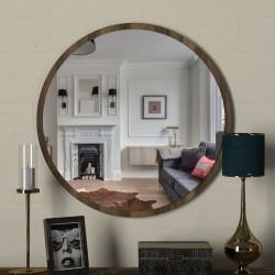 Oglinda de perete Glob, Tera Home, Ø59 cm, maro