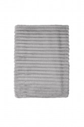 Patura Mistral Flannel plaid combo, Bold Stripes, 130x170 cm, 100% poliester, gri