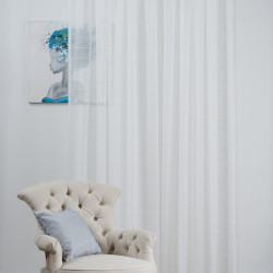 Perdea Imagine, Clemence, 300x245 cm, poliester, crem