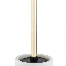 Perie pentru toaleta cu suport, Wenko, 10x7.5 cm, polirasina, alb