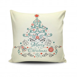 Perna decorativa, Christmas NOELKRLNT-35, 43x43 cm, policoton, multicolor