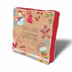 Perna decorativa Decor Xmas, Christmas, 43x43 cm, policoton, multicolor