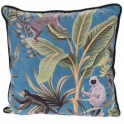 Perna decorativa Jungle, 45x45 cm, poliester, albastru