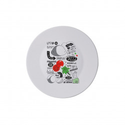 Platou pentru servire Pizza Recipe, Bormioli, Ø33 cm, opal, multicolor
