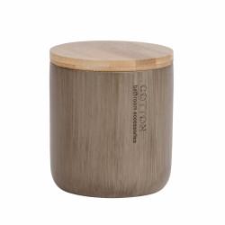 Recipient universal pentru depozitare Palo Taupe, Wenko, 9.8 x 11 cm, bambus, taupe