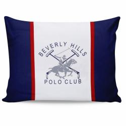 Set 2 fete de perna 50x70, 100% bumbac, Beverly Hills Polo Club, Bleumarin/Gri/Alb/Rosu