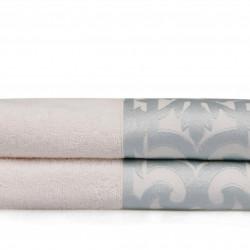 Set 2 prosoape de baie Monaco, Soft Kiss, 50 x 90 cm, 100% bumbac, crem/bleu