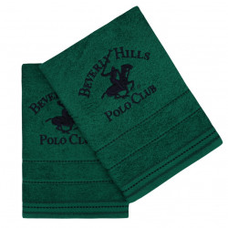Set 2 prosoape de maini, Beverly Hills Polo Club, 403, 50x90 cm, 100% bumbac, verde