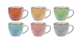 Set 6 cani Espresso, 90 ml, ceramica, multicolor