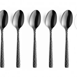 Set 6 lingurite pentru cafea, Amefa, Felicity Mocca, inox, negru