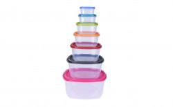 Set 7 caserole pentru alimente, plastic, multicolor