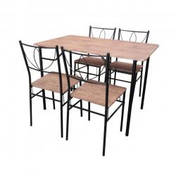 Set dining/bucatarie Bedora Noma, masa cu 4 scaune, 110x70x75 cm
