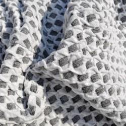 Set Huse Elastice Bicolore - Canapea 3 Persoane + 2 Fotolii - Alb si Gri - Kirik Beyaz
