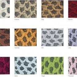 Set Huse Elastice Bicolore - Canapea 3 Persoane + 2 Fotolii - Bej Inchis si Gri - Kemik