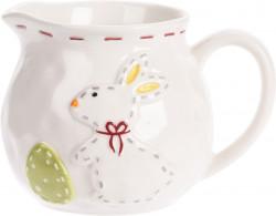 Cana pentru lapte Rubbit Dotted Line, 12.5x9x8.5 cm, multicolor