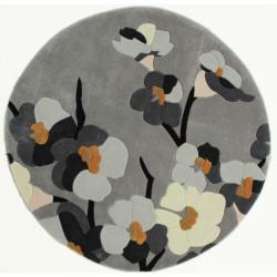 Covor Infinite Blossom, Flair Rugs, 135 cm, 100 % poliester, gri/bej