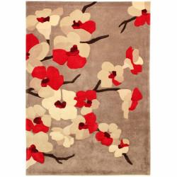 Covor Infinite Blossom Red, Flair Rugs, 80 x 150 cm, 100% poliester, rosu/bej/crem