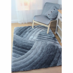 Covor Verge Furrow Grey, Flair Rugs, 160 x 230 cm, 100% poliester, gri