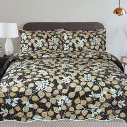 Cuvertura de pat + 2 Fete de Perne, Bumbac Tip Finet, Imprimata, Pat 2 persoane, CFI-75