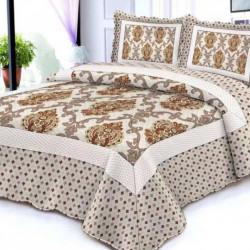 Cuvertura de pat + 2 Fete de Perne, Bumbac Tip Finet, Imprimata, Pat 2 persoane, CFI-96