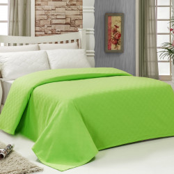 Cuvertura de pat dubla, Bella Carine by Esil Home, 200x240 cm, 100% bumbac, verde