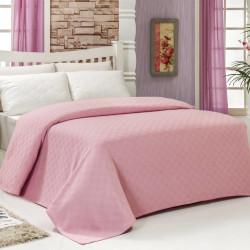 Cuvertura de pat dubla, Bella Carine by Esil Home, 200x240 cm, 100% bumbac, roz