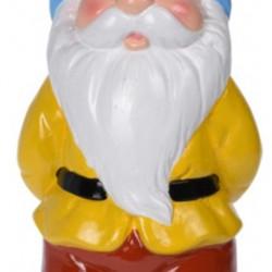 Decoratiune Dwarf with swan, 17x12x40 cm, ceramica, multicolor