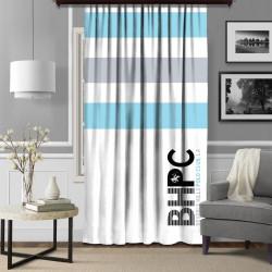 Draperie Beverly Hills Polo Club, 140x260, 100% poliester, Blue/Grey/White