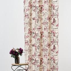 Draperie Mendola Interior, Clasique, 140x245 cm, bumbac/in, rosu