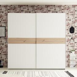 Dulap Cadiz, 215 x 210 x 58 cm, PAL, alb/bej