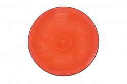 Farfurie intinsa Gala Orange, Heinner, Ø27 cm, ceramica, portocaliu