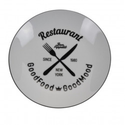 Farfurie pentru supa Restaurant, Ø20.5 cm, portelan, alb