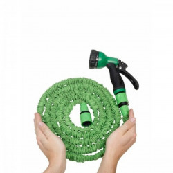 Furtun extensibil Green Jocca, 7.5 m, latex/poliester, verde