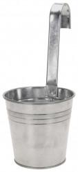 Ghiveci cu agatatoare Excellent Houseware, 13.5x13 cm, zinc