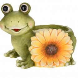 Ghiveci Frog with sunflower, 35x25.5x25 cm, oxidat de magneziu