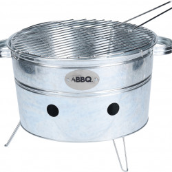 Gratar Bucket, 34x20 cm, metal, argintiu