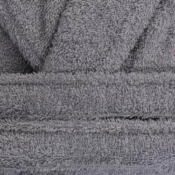Halat de baie unisex, Beverly Hills Polo Club, 100% bumbac, M/L, Grey