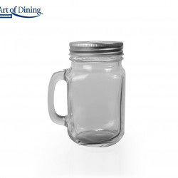 Halba tip borcan cu capac perforat, Heinner Home, 400 ml, sticla/metal, transparent