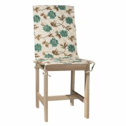 Husa spatar scaun 47x100 cm, Blue Flower, 100% bumbac, albastru