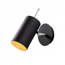 Lampa de perete Opviq Kem, E27, 100 W, 22x23 cm, negru