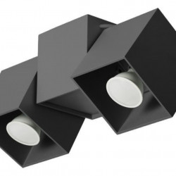 Lampa de tavan Lampex, Kraft 2B Black, GU10, 40W