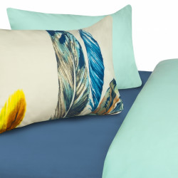 Lenjerie de pat dubla Dream, Heinner, 3 piese, 200 x 220 cm, 100% bumbac, verde/albastru
