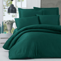 Lenjerie de pat dubla King Size, Victoria, Alisa Green, 6 piese, 240x260 cm, 100% bumbac satinat, verde