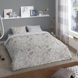 Lenjerie de pat pentru doua persoane, Good Morning Anaya, 100% bumbac, 3 piese, gri