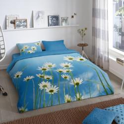 Lenjerie de pat pentru doua persoane, Good Morning, Sunny, 100% bumbac, 3 piese, multicolor