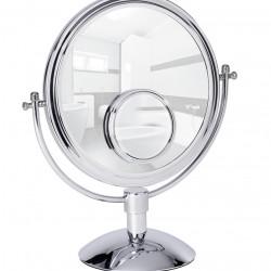 Oglinda cosmetica, Wenko, Grando, 17 x 37 x 33 cm, inox/sticla